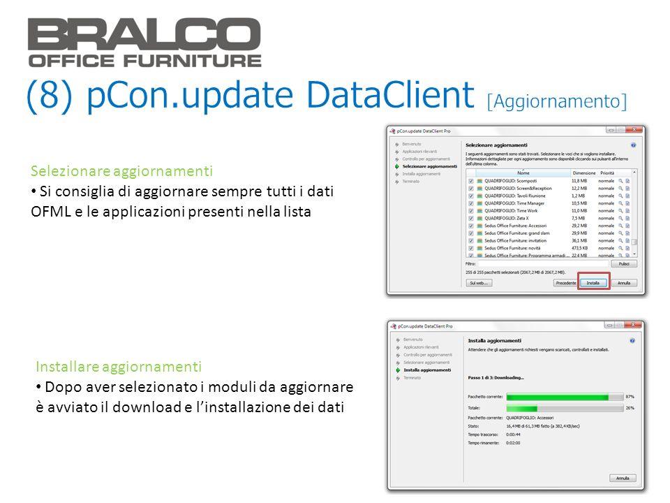 (8) pCon.update DataClient [Aggiornamento]